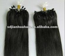 "2013 HOT selling italy keratin Pre-bonded micro ring loop hair extensions 10""-26"""