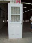 glass teel door with square glass lites