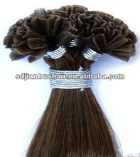 Brazilian virgin u tip pre bonded fusion hair extensions