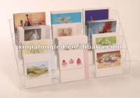 82668 Desktop Acrylic Counter Display Multi Layer Acrylic Greeting Cards Maps Brochure Display Stand Acrylic Counter Stand