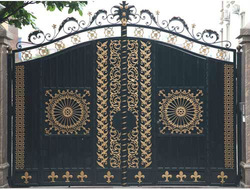 house wrought iron gate steel gate/ cheap wrought iron gate
