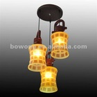 hanging chain lamp with glass shade