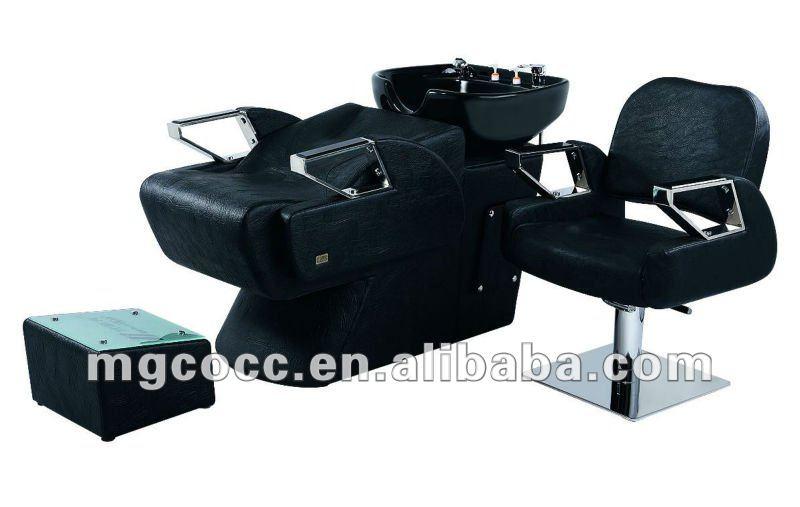 Montar salão de beleza cadeira e cadeira Shampoo para móveis salão de beleza