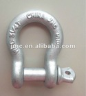 Hot Dipped Galvanized US Type Drop Forged Screw Pin Bow Shackle Anchor Shackle