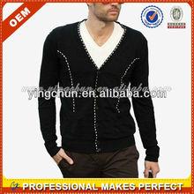 Fashion men's cardigan sweaters,cashmere cardigan sweaters wholesale(YCH-B0065)