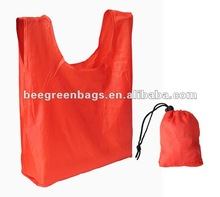 Nylon Foldable Reusable Shopping Bag with Inside Pouch