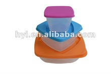 hot selling colorful with lid quadrate lunch box plastic food container