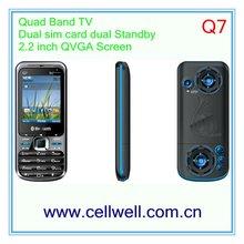 TV Q7 Q9+ quad band dual sim card mobile phone lound speaker