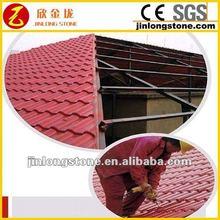 Waterproof red clay roof tile