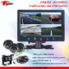 RV-7002V-4 7 inch car rear view camera system with 4-split screen monitor for heavy duty vehicles