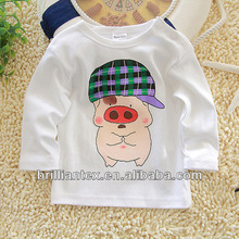 New Born Organic Cotton White Printed Baby T Shirts Baby Clothing