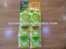 12pcs/card round sponge for kitchen cleaning
