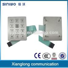 3x4 stainless steel metal numeric keypad