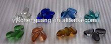 colored glass stones/glass bolck