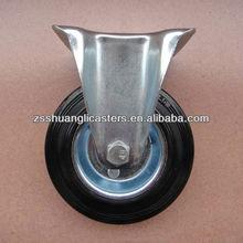 Rubber tyre fixed caster wheels for wheelbarrow
