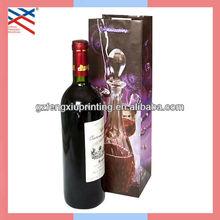 Promotional Paper Wine Bottle Bag