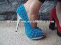 ذهبية مسمار 2013 الأحذية سيدة الكعب العالي