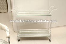 Mirrored Acrylic Lucite hotel trolley/acrylic bar cart/bar furniture