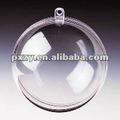 decoração de natal de plástico transparente bolas