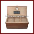 Partages humidor charuto de madeira, 40+ cedro charuto caixa de caso, com higrômetro