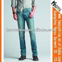 Erkek toptan ucuz kot 2014 modaince kot pantolon erkek kot( hy1574)