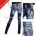 ( #tg351- 1w) turco jbd elástico de la cintura más el tamaño de los pantalones vaqueros de las mujeres 2012