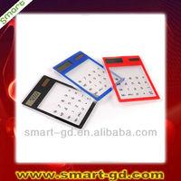 Hot selling ultrathin calculator solar calculator mini transparent calculator