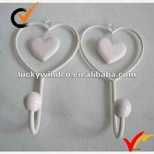 French vintage heart metal hooks
