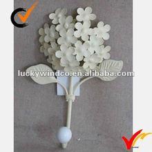 French vintage cream metal flower hook