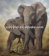 Hand-painted animal elephant painting