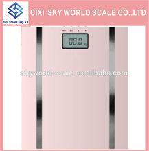 Digital body fat/hydration monitor scale