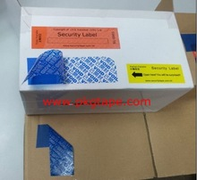 Evident void security special adhesive label coat acrylic on PET film for packing and warnig