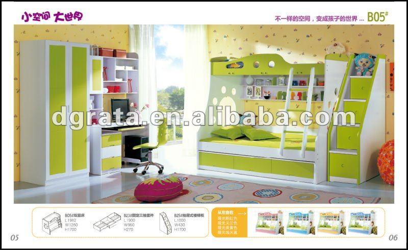 2012 nueva DIY litera está hecho de E1 tablero MDF y la pintura para los niños o adolescente dormitorio