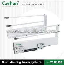 full extension soft closing silent damping drawer slide