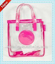 Print mesh handbags for zipper ,Hand woven bag,Beautiful plastic tote bag,