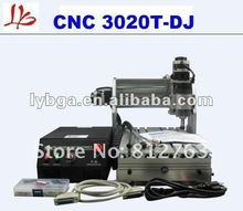 Free shipping 110V mini desktop engraving machine 4 axis cnc 3020T-DJ for 3d cnc , upgrade from cnc 3020t, cnc 3020