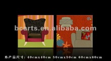 Modern cartoon design decorative group sofa canvas painting, two panels printed wall art wholesale