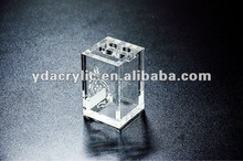 2012 OEM Beautiful thick clear acrylic toothbrush holder for bathroom