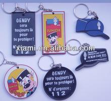 Custom plastic Soft pvc rubber keychains