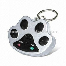 Unique paw waterproof voice recordable blank dog tags