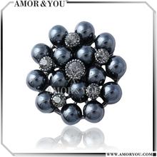Dark Color Pearl Magnetic Brooch Pins Hijab JBXA024303