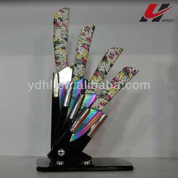colourful ceramic knife setT02-5Y02