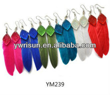 Fashion Feather earring,Plume earring,feather earrings 2012