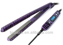Purple Zebra Ceramic Hair Straightener Iron MCH Heater
