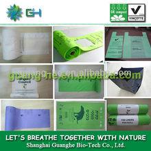 100% biodegradable plastic packing bag for supermarket,PLA compostable colored packing bag