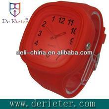 2013 latest style ribbon band watch Glue shell with silica gel Quartz silicone watch