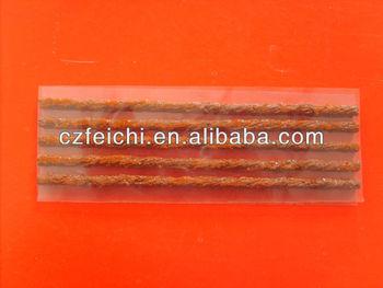 Tyre repair seal strings brown or black