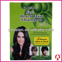 Ylofang Olive Black Hair Shampoo/color hair black 30mlx10pcs