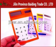 Red Color Solar Power Thin Pocket Transparent Calculator/Calculator Transparent
