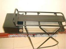 48V 10Ah lifepo4/li-ion battery E-bike battery with rear rack carrier